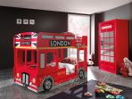 Product image for Haani London Bus Childrens Novelty Bunk Bed