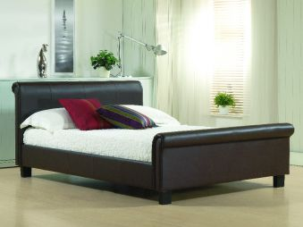 Time Living Aurora Faux Leather Bed Frame
