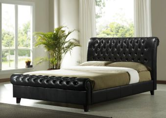 Time Living Richmond Faux Leather Bed Frame