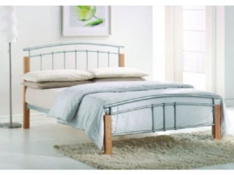 Time Living Tetras Beech Metal Bed Frame