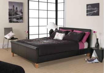 Serene Savona Faux Leather Bed Frame