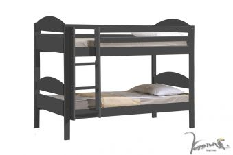 Verona Maximus Graphite Wooden Bunk Bed With Colour