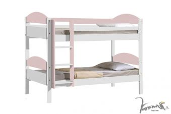 Verona Maximus White Wooden Bunk Bed