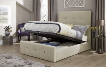 Serene Katherine Fabric Ottoman Bed Frame