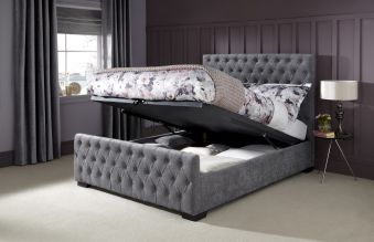 Serene Lillian Fabric Ottoman Bed Frame