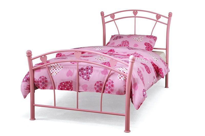 Childrens beds serene jemima bed pink girls bedframe for Childrens single beds