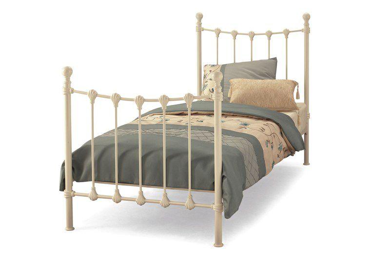 Metal beds serene marseilles bed black metal bedframe for Beds 4 sale