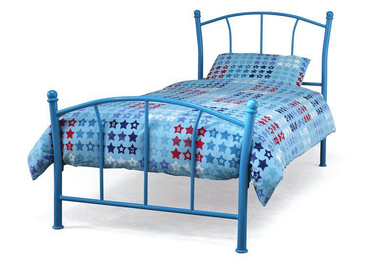 Childrens beds serene penny bed pink girls bed frame for Childrens bed frames