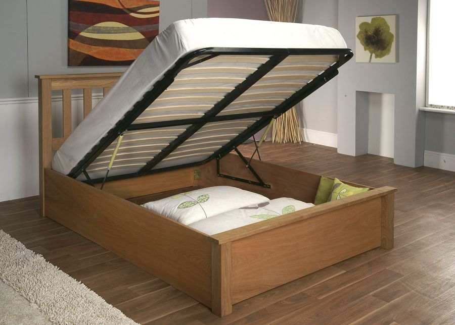 Wooden Bed Frames with Storage 900 x 644