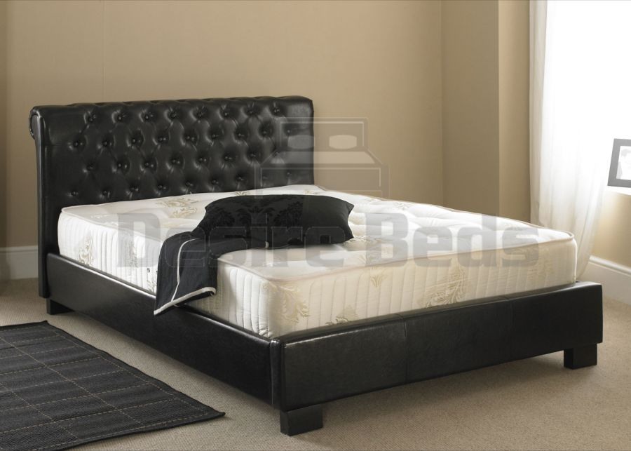 Leather Bed Frames Desire Beds Churchill Low Foot End
