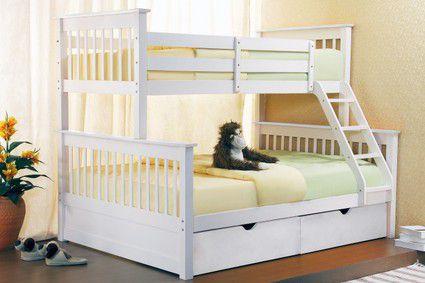 Bunk Beds - Joseph Sonya Wooden Three Sleeper Bunk Bed : Click 4 Beds
