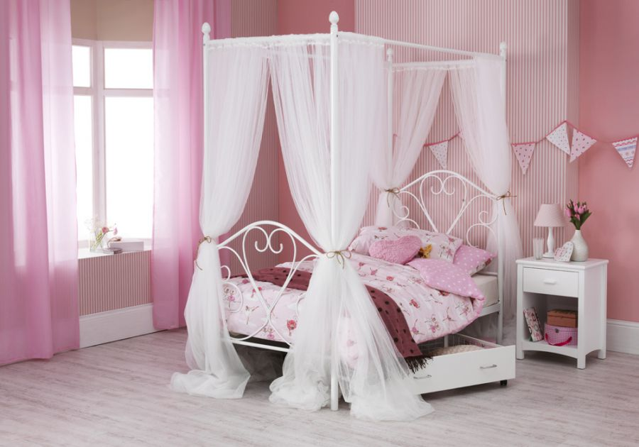 Metal Beds Serene Isabelle Four Poster Metal Bed Frame