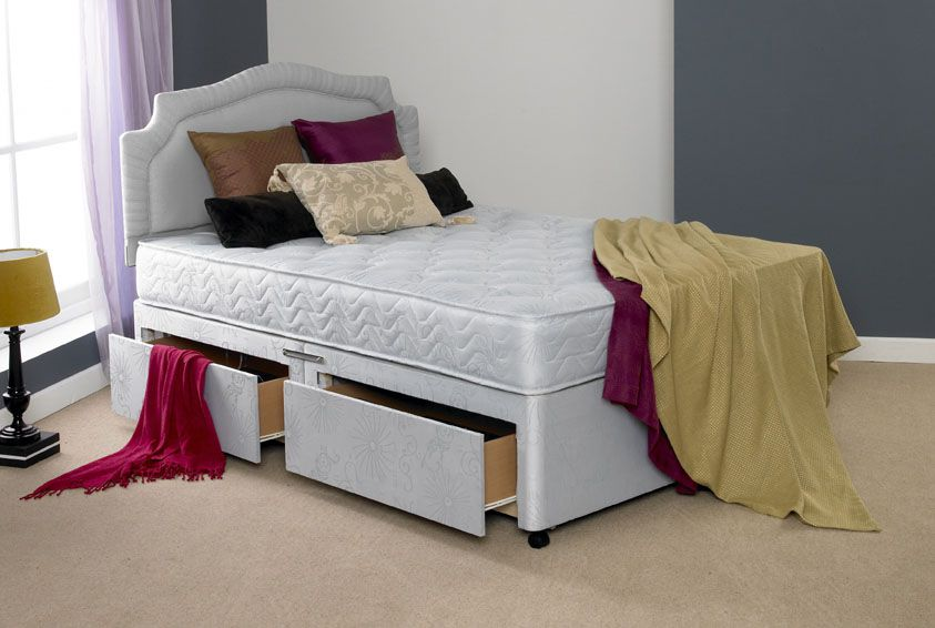 Divan beds bedmaster venice open coil divan set click for Bed master